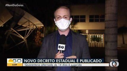 Governo de Goiás publica decreto determinando fechamento intermitente de atividades