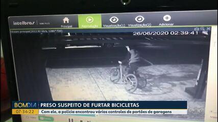É preso suspeito de furtar bicicletas