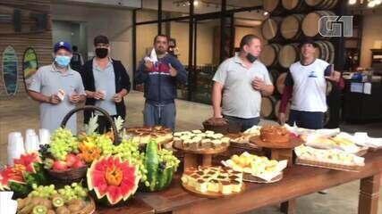 Dia do Caminhoneiro é celebrado com café da manhã e ações de saúde na RJ-124