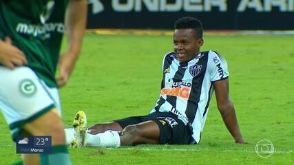 Cazares segue afastado dos treinos do Atlético-MG por causa de diagnóstico da Covid-19