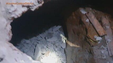 Agentes penitenciários encontram túnel de quase três metros no Presídio de Erechim