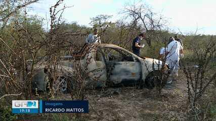 Polícia Militar encontra veículo com dois corpos carbonizados em Petrolina