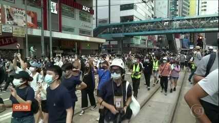 Quase 400 pessoas foram presas depois de nova lei de segurança nacional em Hong Kong