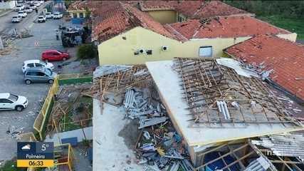 Municípios de SC contabiliza estragos após passagem de ciclone bomba
