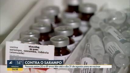 Campanha de vacinação contra o sarampo é prorrogada até agosto