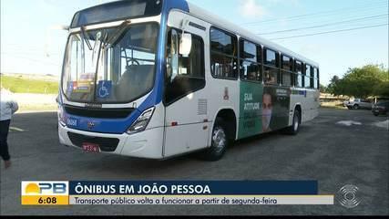 Coronavírus: ônibus de transporte público de João Pessoa retornam 6 de julho