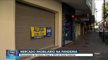 Desocupação de imóveis chega a 25% em Santa Catarina durante pandemia