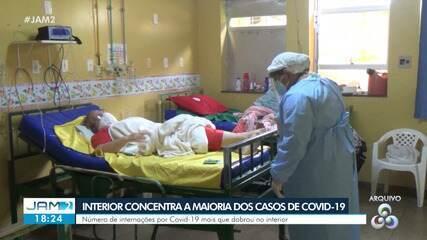 Interior do AM concentra maioria dos casos de Covid-19
