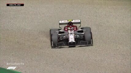Giovinazzi escapa da pista e está fora do Q2