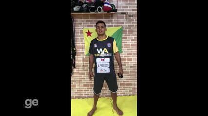 Wendel Almeida se prepara para 2ª luta profissional no MMA, no Shooto Brasil 100