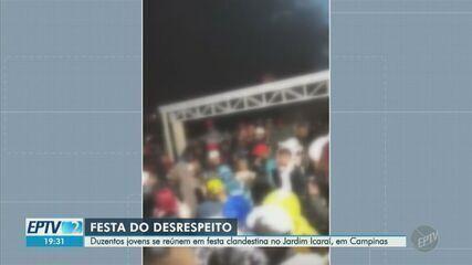 Coronavírus: Guarda Municipal de Campinas interrompe festa clandestina no Jardim Icaraí