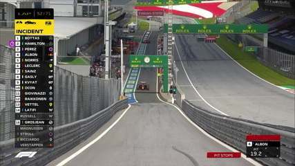 Albon faz parada durante bandeira amarela no GP da Áustria