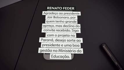 Renato Feder recusa convite para assumir Ministério da Educação