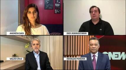 Rodrigo Maia comenta relação com Bolsonaro e combate ao coronavírus