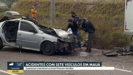 Três pessoas morreram em acidente de carro em Mauá
