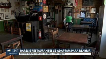 Bares, pizzarias e casas noturnas se adaptam para reabertura na capital