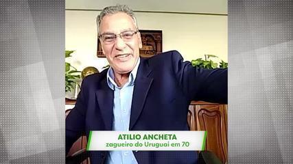 Atilio Ancheta, ex-zagueiro do Uruguai, relembra participação em gol que Pelé não fez