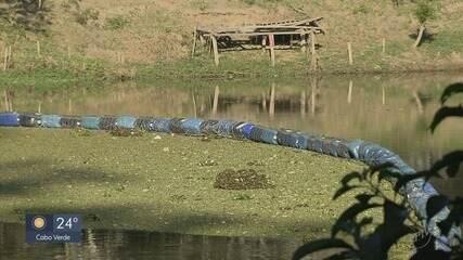 Sistema de contenção de lixo sólido é instalado no Rio Verde