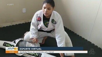 Professores de Jiu-Jitsu no Amapá dão aulas virtuais aos alunos durante o isolamento