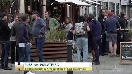 Pelo menos três pubs da Inglaterra voltaram a fechar por novos casos de Covid-19