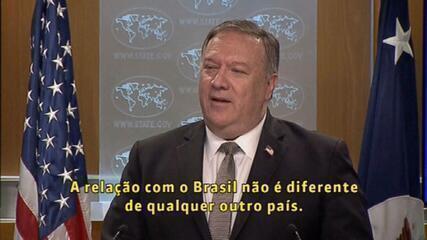 Mike Pompeo diz que Brasil não terá tratamento especial para entrar nos EUA