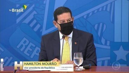Em reunião com investidores, Hamilton Mourão promete ações para proteger a Amazônia