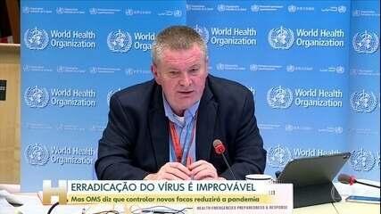 Erradicação do coronavírus é improvável, diz OMS