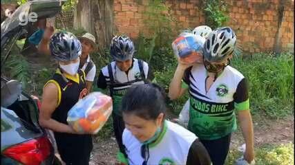 Ação solidária de grupo de ciclismo em São Luís contribuiu com uma família durante a pandemia