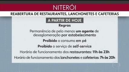 Mais reabertura em Niterói. Restaurantes , lanchonetes e cafeterias reabrem hoje