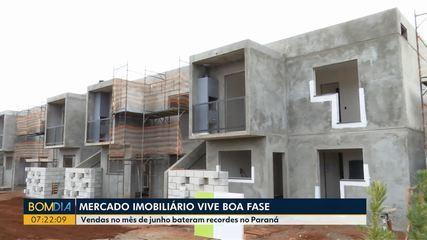 Mercado imobiliário em alta no Paraná
