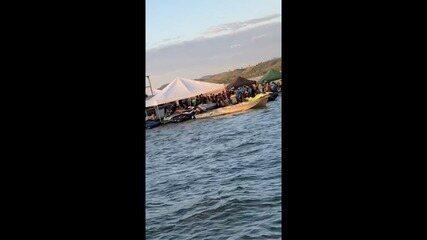 Tocantinenses fazem festa e se aglomeram em praia do rio Araguaia; veja vídeos