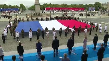 Feriado na França presta homenagem a profissionais da saúde