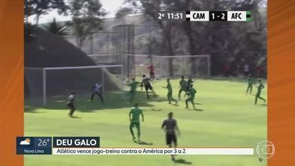 Atlético-MG vence América-MG em jogo-treino; Diego Tardelli se lesiona e sai de maca