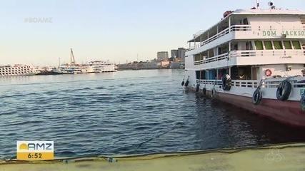 Serviço de transporte fluvial é retomado com adaptações em Manaus