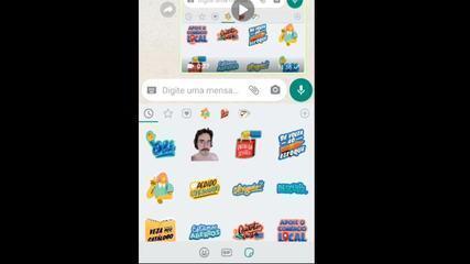 Como usar figurinhas animadas no WhatsApp