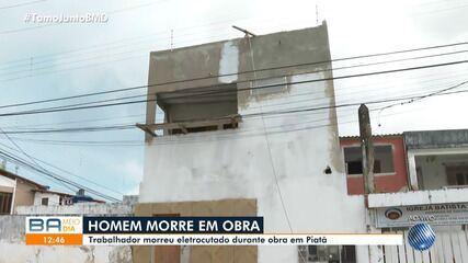 Homem morre eletrocutado durante obra eno bairro de Piatã, em Salvador