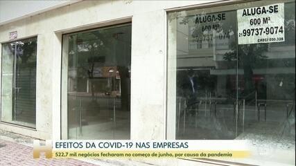 Quatro em cada dez negócios no Brasil fecharam na 1ª quinzena de junho, diz IBGE