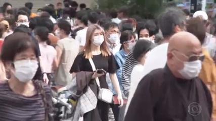 Índia e Japão apresentam aumento no número de casos da Covid-19