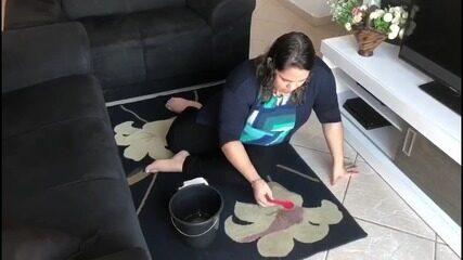 """""""Faça em Casa"""" traz dica para tirar manchas de tapete e sofá"""
