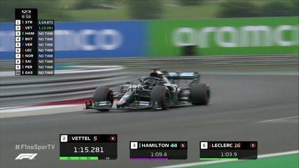 Lewis Hamilton estabelece novo recorde da pista com 1:14:261 no Q3