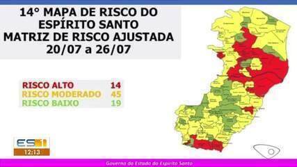 Em novo mapa, Cariacica é o único município da Grande Vitória em risco alto