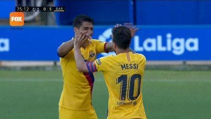 Os gols de Alavés 0 x 5 Barcelona pelo Campeonato Espanhol