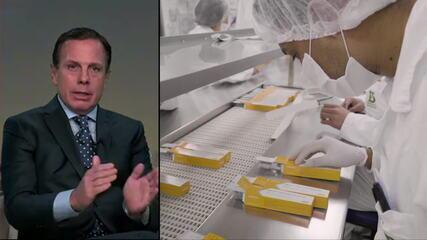 Doria: 'Teste da vacina chinesa em parceria com Butantan vai durar três meses'