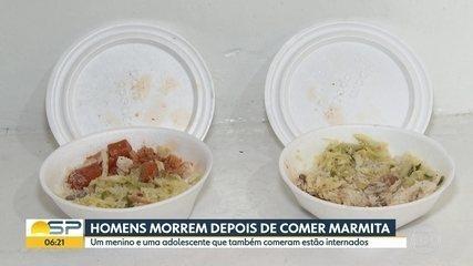 Homens morrem depois de comer marmita