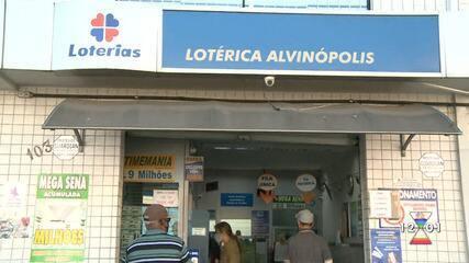 Aposta de Atibaia que faturou R$ 28,4 milhões sozinha foi feita em lotérica no Alvinopolis