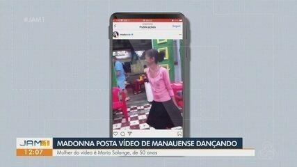 Madonna posta vídeo de ex-moradora de rua de Manaus dançando 'Holiday' em bar da capital