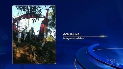 Guarda Civil retira helicóptero que caiu com 300 quilos de pasta base de cocaína