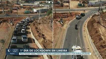 Coronavírus: primeiro dia de lockdown esvazia ruas em Limeira