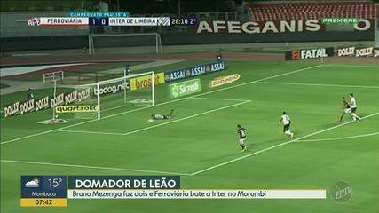 Ferroviária vence Inter de Limeira com dois gols de Bruno Mezenga
