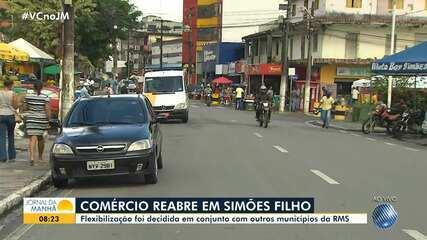 Comércio não-essencial volta a funcionar em cidades da Região Metropolitana de Salvador